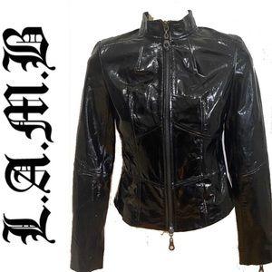 L.A.M.B by Gwen Stefani  patent leather jacket